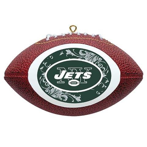 NFL New York Jets Mini Replica Football Ornament - Santa Nfl New York Jets