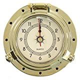 iztor Endurance Collection Quartz Brass Clock-Brass