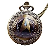 Star Trek Command Glass Dome Bronze Finish Pendant Pocket Watch