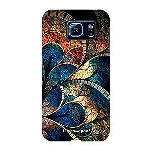 HomeSoGood Multicolor Feather Design 3D Mobile Case For Samsung S6 ( Back Cover)