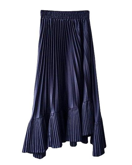 PengGengA Mujeres Enagua Faldas Midi Tul Cintura Elástica ...