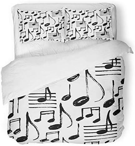 Copripiumino Note Musicali.Copripiumino 3 Pezzi Set Tessuto Microfibra Spazzolato Kid