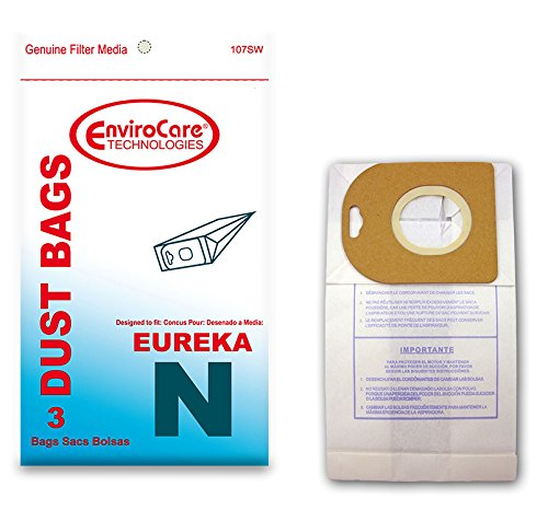 EnviroCare Replacement Vacuum Bags for Eureka Mighty Mite Style N Canister Vacuums 3 Pack