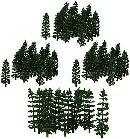 P Prettyia 森林 ジオラマ モデルツリー 樹木 木 HO 1:100 鉄道 建築 模型 用 樹木 風景 盆栽景観 建築景観 80本入り