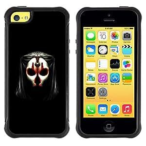 BullDog Case@ Skull Mask Face Anonymous Art Alien Human Rugged Hybrid Armor Slim Protection Case Cover Shell For iphone 5C CASE Cover ,iphone 5C case,iphone5C cover ,Cases for iphone 5C