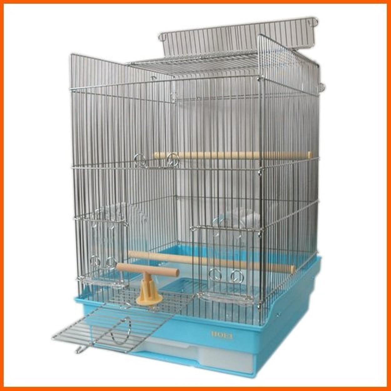 起きて感動する克服するAeon hum 鳥かご 鳥ケージ 大型 豪華ケージ 3段階 大きい インコ オウムケージ オカメ セキセイ ボタン コガネメキシコ コザクラ マメルリハ ウロコ アキクサ 100x36x46 (ゴールド)