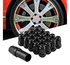 with 19 Hex and 21 Hex Security Key Black RYANSTAR 20Pcs M12x1.5 Wheel Lug Nuts Closed End 6 Spline Nut,Bulge Acorn Cone Seat Wheel Locking Nuts