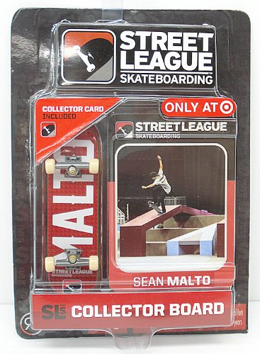 Pro Street Collector (Street League Skateboarding Pro Series 1 Red Skateboard & Sean Malto Collector Card Target Exclusive by Ronin Syndicate)