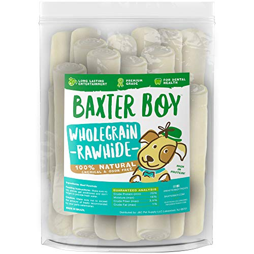 Baxter Boy Rawhides for Dogs, 8-9