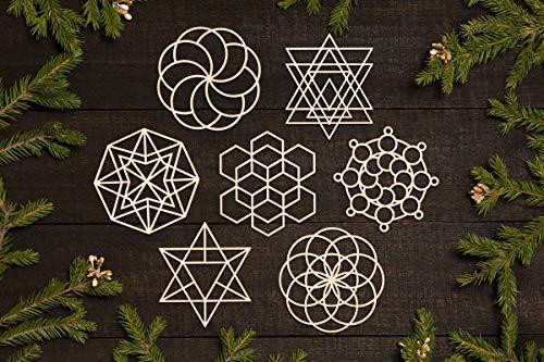 WoodSign MarthaFox Sacred Geometry Ornaments for Engineer Techie Physics Lover Architect It Geek Scientist Science Nerd Geek Smart Gift