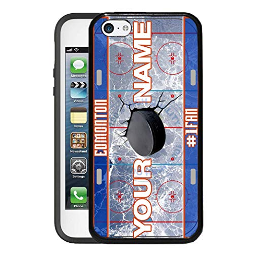 (BRGiftShop Personalize Your Own Hockey Team Edmonton Rubber Phone Case For Apple iPod Touch 5th & 6th Generation)