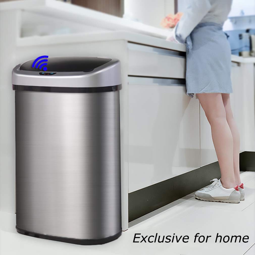 New 13 Gallon Touch Free Sensor Automatic Stainless Steel