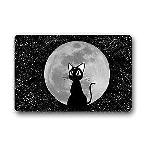 Densy alfombrillas de puerta se puede lavar a máquina. Felpudo (bseautifulsailor luna gato luna personalizado máquina lavable Felpudo baño decoración de la cocina alfombra/Felpudo (23,6x 15,7)