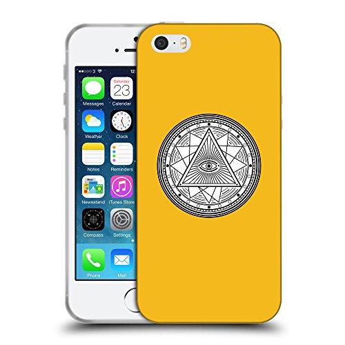 GoGoMobile Coque de Protection TPU Silicone Case pour // Q09690602 Mystique occulte 18 ambre // Apple iPhone 5 5S 5G SE