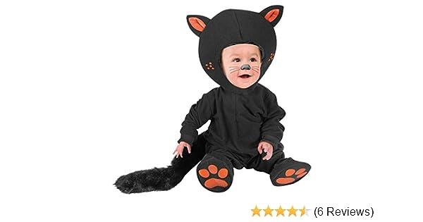 dd348e02587 Amazon.com  Kid s Infant Baby Black Cat Costume (Size  12M)  Clothing