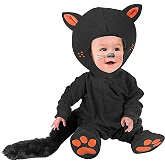 Kid 39 s infant baby black cat costume size 12m - Disfraces bebe halloween ...
