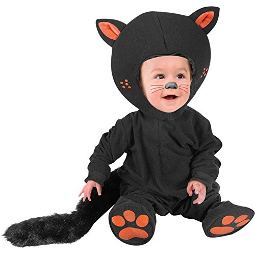 Kid's Infant Baby Black Cat Costume (Size: 12M) -