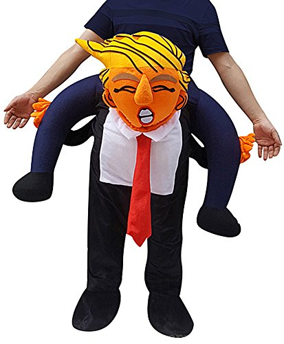 Creative Apparel Mr President Funny Piggyback, Ride-on Shoulder, Carry Me Costume for Adults, One -