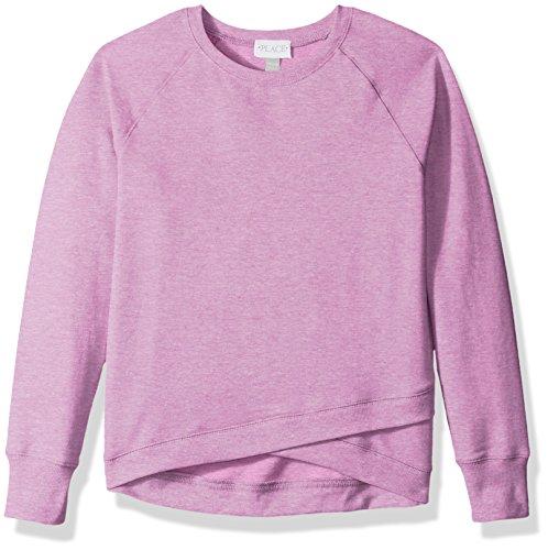 The Children's Place Big Girls' Pullover Crewneck Sweatshirt, H/T Lilac 84593, M (7/8) -