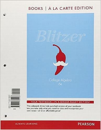 College Algebra, Books a la Carte Edition (6th Edition)