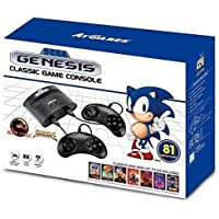 Sega Genesis FB8280C Classic Game Console with 81 Classic Built-in Games (Black)