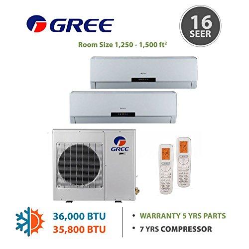 Gree Multi Dual Zone Ductless Mini Split 36 000 Btu