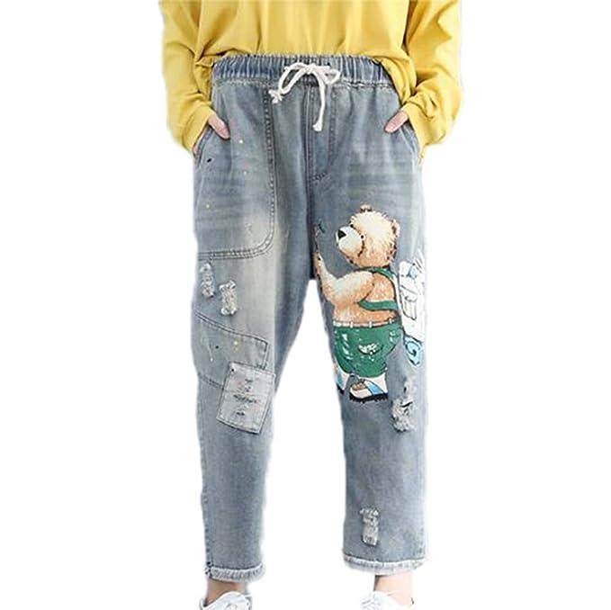 Hellomiko Pantalones de otoño de Mujer de Gran tamaño ...