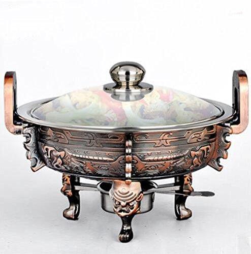 GDS/Small calientaplatos Acero Inoxidable Envejecido Alcohol estufa parrilla parrilla de llama en Hot Pot Hot Pot Estufa de alcohol: Amazon.es: Deportes y ...