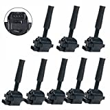 Carrep Ignition Coil Coils Pack of 8 for Jaguar Xj8 XJR XKR XK8 Vaden Plas 4.0L UF415 xw93-12029-ab