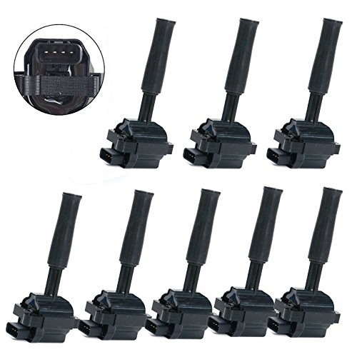 Carrep Ignition Coil Coils Pack of 8 for Jaguar Xj8 XJR XKR XK8 Vaden Plas 4.0L UF415 xw93-12029-ab by Carrep