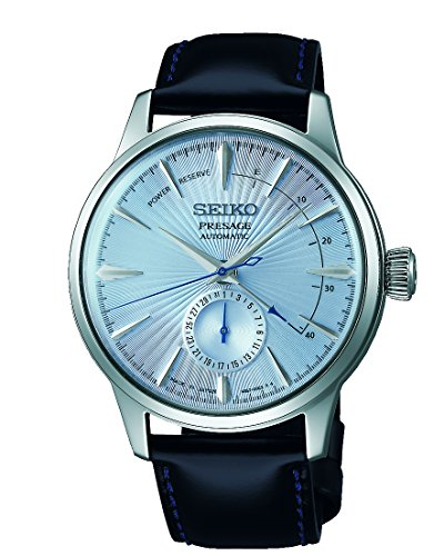 Cocktail Watch - SEIKO PRESAGE Power Reserve Ice Blue Cocktail Time