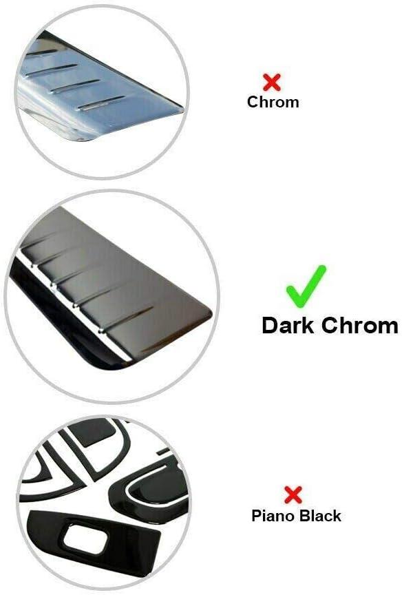 Dark Chrome Rear Bumper Protector Scratch Guard Fits 3 Series F30 Estate 2012-2018