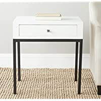 Safavieh American Home Collection Adena White End Table