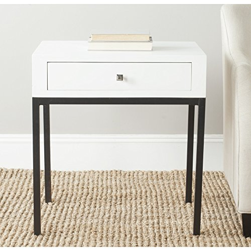 - Safavieh AMH6612A-Parent American Homes Collection Adena End Table, White