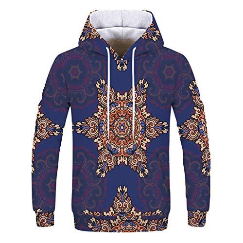 Fashion 3D Digital Hoodie Loves' Casual Autumn Winter Printing Long Sleeve Hoodies Sweatshirt Vortex Printed Long Sleeve (Top Vortex Bell)