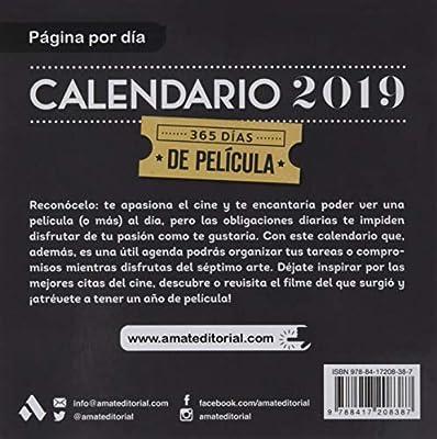 Calendario Cine 2019: Amat Editorial: 9788417208387: Amazon ...