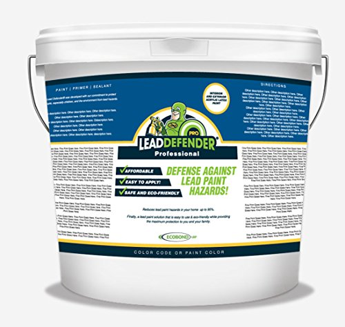Lead Based Paint - ECOBOND Lead Defender Pro 5-Gal Lead Based Paint Treatment and Sealant-All Orders Receive Our Lead Paint Treatment Industry Awareness Webclass and Multi-media Mixing and Application Tutorial