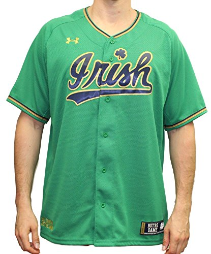 Fighting Irish Green Jersey - Under Armour Notre Dame Fighting Irish NCAA Men's Baseball Jersey - Green