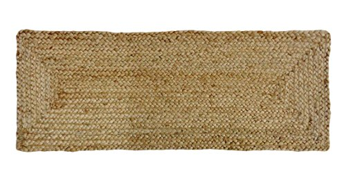 Cotton Craft - 100% Jute- Reversible Jute Braided Table Runn