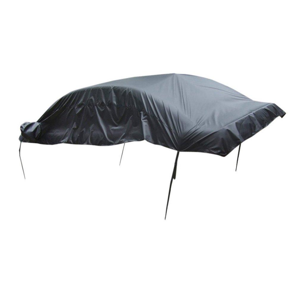 Color negro 335 x 150 x 50 cm Funda de lona impermeable para coche Winomo