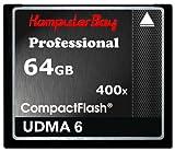 KOMPUTERBAY 64GB Professional COMPACT FLASH CARD CF 400X WRITE 30MB/s READ 60MB/s Extreme Speed UDMA 6 RAW 64 GB