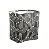 D DOLITY Household Toy Large Storage Prismatic Laundry Basket Waterproof for Bathroom,Toy Box/Toy Storage/Toy Organizer - Black