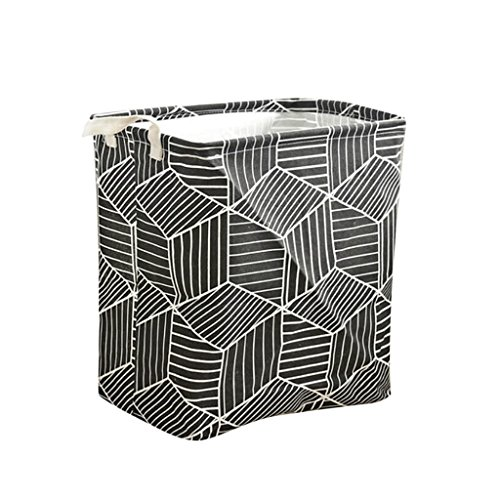 D DOLITY Household Toy Large Storage Prismatic Laundry Basket Waterproof for Bathroom,Toy Box/Toy Storage/Toy Organizer - Black by D DOLITY