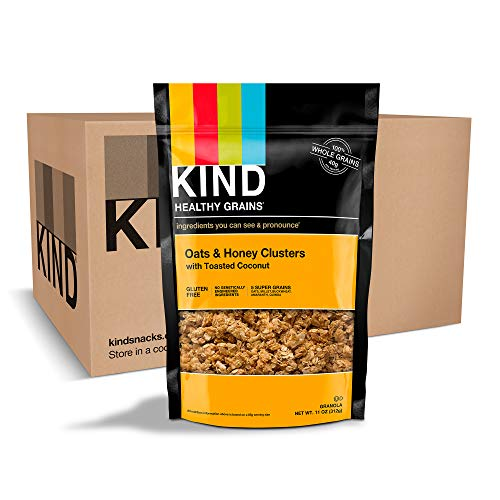 KIND Healthy Grains Clusters, Oats and Honey with Toasted Coconut Granola, Gluten Free