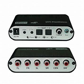 DragonPad 5.1 AC3 DTS HD descodificador de audio Decodificador de Sonido Digital óptica SPDIF coaxial a
