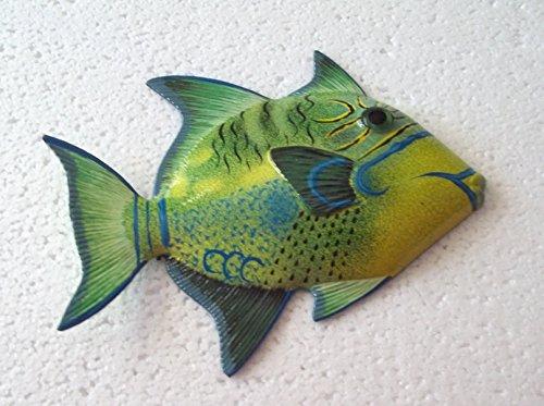 (Tropical Fish Wall Plaque Tiki Bar Beach Nautical Size 6