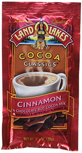 - Land O Lakes Cocoa Classics, Chocolate & Cinnamon, 1.25-Ounce Packets 12 count (Pack of 6)