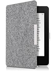 kwmobile Amazon Kindle Paperwhite Hülle - Filz Stoff eReader Schutzhülle Cover Case für Amazon Kindle Paperwhite (für Modelle bis 2017) - Hellgrau