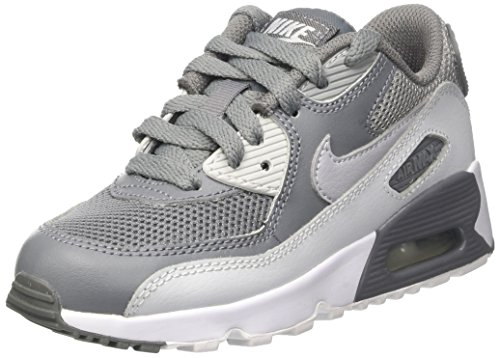 Nike Air Max 90 Mesh Ps - Zapatillas de running Niños Multicolor (Cool Greywolf Grey Pure Platinum White)