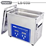 limplus LS-03D 3liter 120W Professional Digital Ultrasonic Cleaner Bath Nozzle Metal Parts Aeroplace Surgical Equipment With Timer and Heater